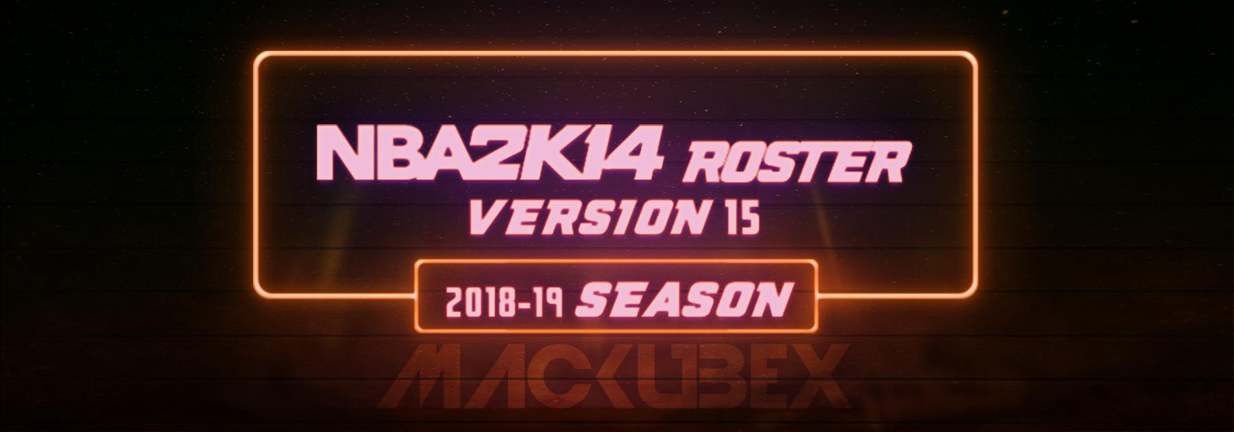 NBA 2K14 Roster Update - MACKUBEX